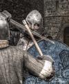 <h5>Im Kampf um die Burg - Manfred Funcke</h5><p>Ein Composing aus 3 Fotos. Fotos: Quetlinburg, Kloster Corvey, Rittertage Gütersloh</p>